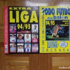 Coleccionismo deportivo: DON BALÓN: EXTRA LIGA 94 95 + TODO FÚTBOL. Lote 122230183