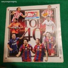 Coleccionismo deportivo: DON BALON EXTRA CRACKS MUNDIALES TOP 40 CRISTIANO RONALDO MESSI INIESTA. Lote 122270899