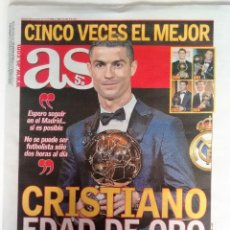 Coleccionismo deportivo: AS CRISTIANO RONALDO GANA SU QUINTO BALÓN DE ORO. Lote 122334451