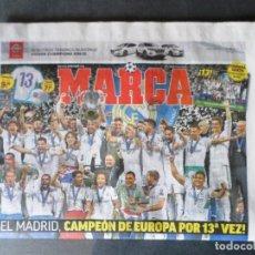 Coleccionismo deportivo: DIARIO PERIÓDICO MARCA 27 MAYO 2018 REAL MADRID CAMPEÓN EUROPA DECIMOTERCERA KIEV CHAMPIONS 13ª 13. Lote 124346188