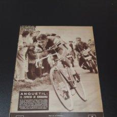 Coleccionismo deportivo: VIDA DEPORTIVA. 16/07/1962. TOUR. ANQUETIL, EL EXPRESO DE NORMANDIA. GIRA AMERICANA DEL BARÇA.. Lote 122446274