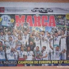 Coleccionismo deportivo: PERIODICO MARCA NUEVO REAL MADRID CAMPEON UEFA CHAMPIONS LEAGUE TEMPORADA 2017 2018 17 18. Lote 221330001