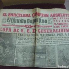 Coleccionismo deportivo: EL MUNDO DEPORTIVO.26-MAYO-1952. RL BARCELONA CAMPEON ABSOLUTO DE LA COPA DE S.E. EL GENERALISIMO .. Lote 122536347