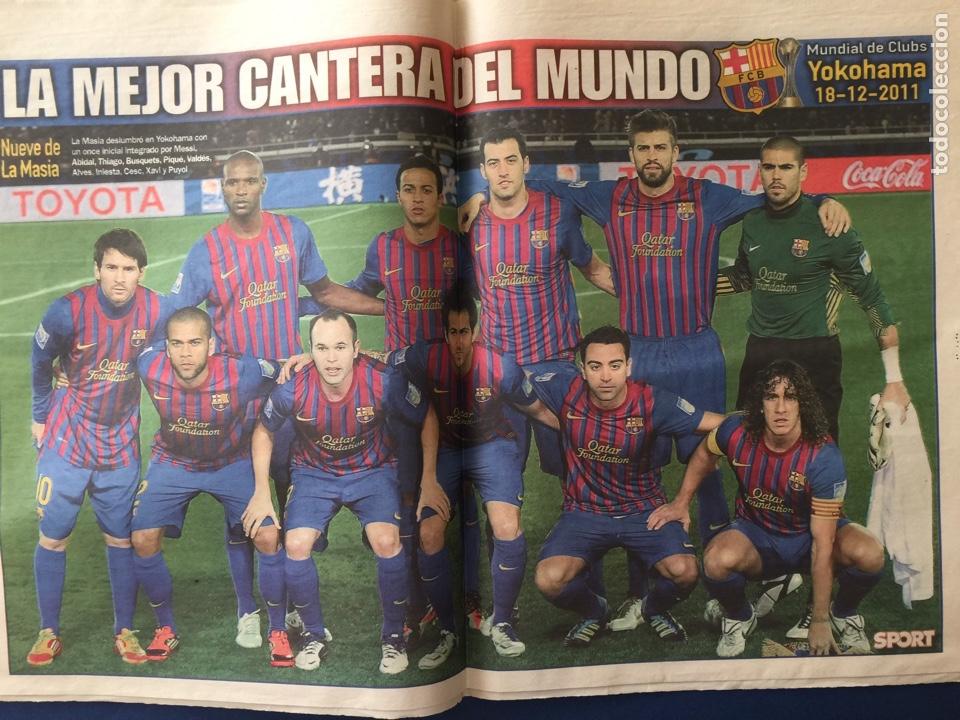 SPORT.20/12/2011. FINAL MUNDIAL CLUBS. BARCELONA CAMPEÓN. CON POSTER (Coleccionismo Deportivo - Revistas y Periódicos - Sport)