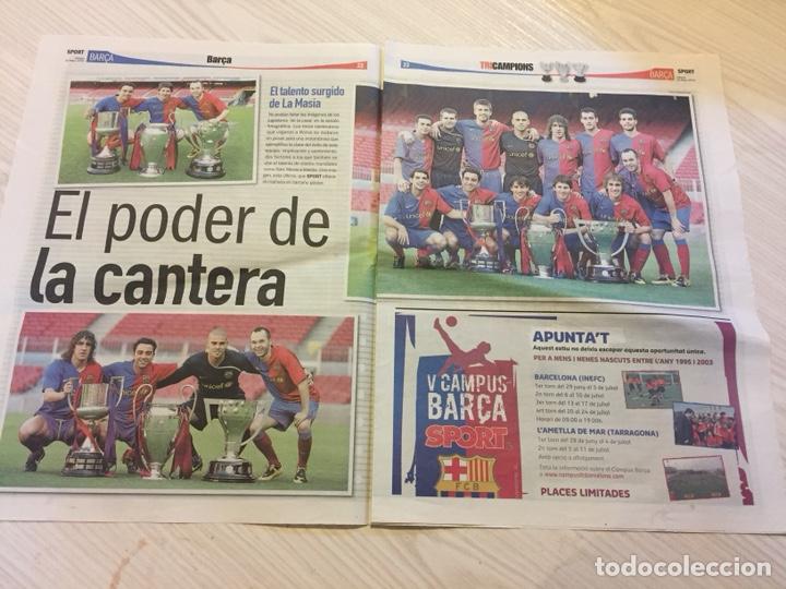 Coleccionismo deportivo: Suplemento periódico sport - Foto 2 - 122712476