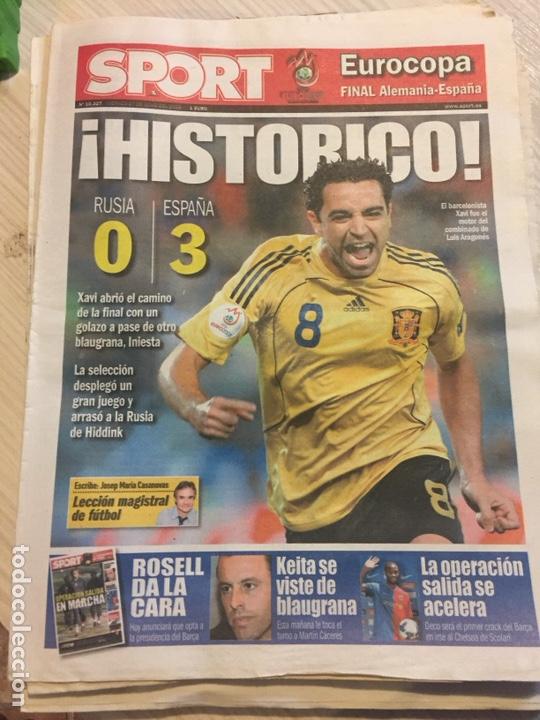 Coleccionismo deportivo: Suplemento periódico sport - Foto 2 - 122712964
