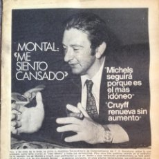 Coleccionismo deportivo: CRUYFF. BARÇA 76-77. MUNDO DEPORTIVO. MONTAL. Lote 123065347