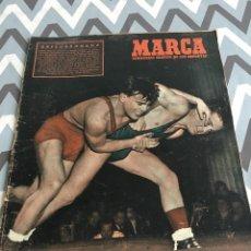Coleccionismo deportivo: MARCA (24-2-1953) MADRID 3-2 ATHLETIC BILBAO ZARAGOZA 4-2 ATLETICO MADRID VALENCIA MALAGA SEVILLA. Lote 123126519