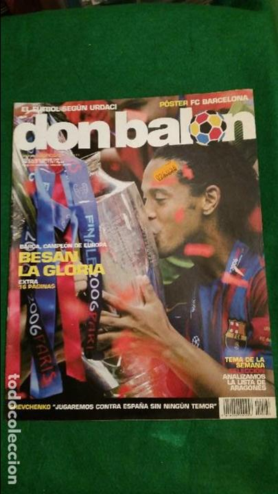 Coleccionismo deportivo: DON BALON Nº 1597 MAYO 2006 FC BARCELONA CAMPEON CHAMPIONS LEAGUE POSTER FC BARCELONA - Foto 1 - 123363291