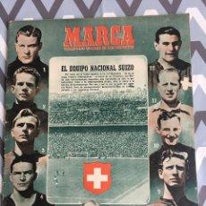 Coleccionismo deportivo - MARCA (20-2-51) ESPAÑA 6-3 SUIZA CHAMARTIN REAL MURCIA 8-0 STADE REIMS - 123368423