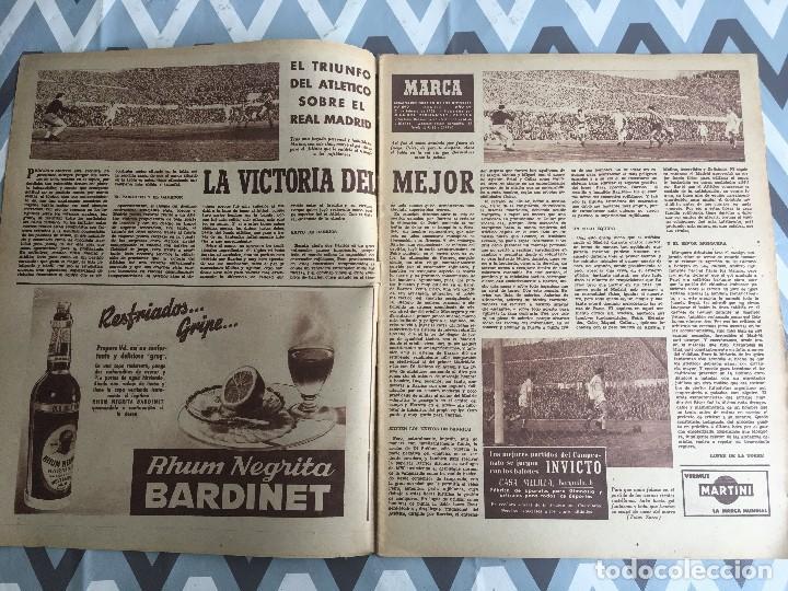 Coleccionismo deportivo: MARCA (21-2-56) ATLETICO MADRID 1-0 REAL MADRID ITALIA FRANCIA BODAS DE ORO CLUB ALPINO NAVACERRADA - Foto 2 - 123379143