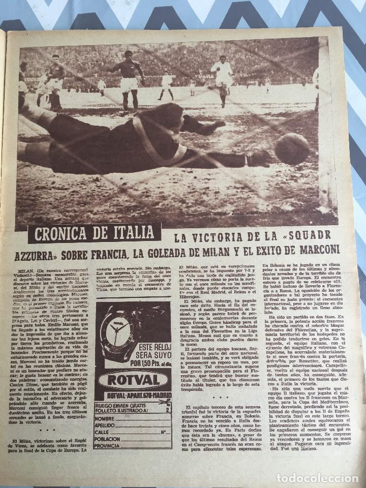 Coleccionismo deportivo: MARCA (21-2-56) ATLETICO MADRID 1-0 REAL MADRID ITALIA FRANCIA BODAS DE ORO CLUB ALPINO NAVACERRADA - Foto 4 - 123379143
