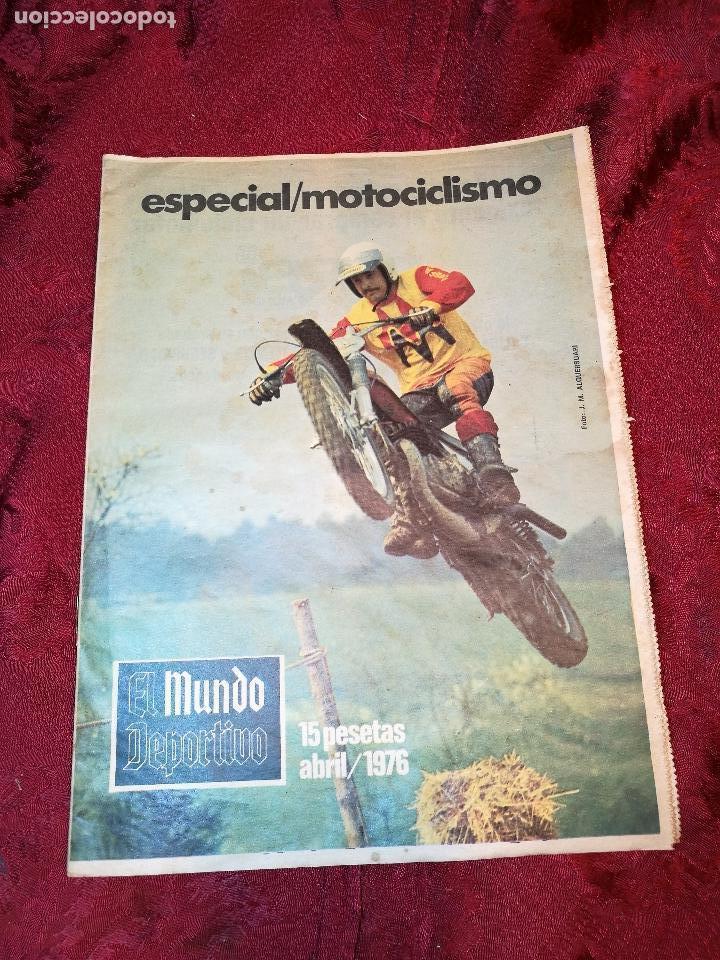 ESPECIAL MOTOCICLISMO 1976 EL MUNDO DEPORTIVO....MUCHA PUBLICIDAD--30 PAG--33 X 24 CM (Coleccionismo Deportivo - Revistas y Periódicos - Mundo Deportivo)