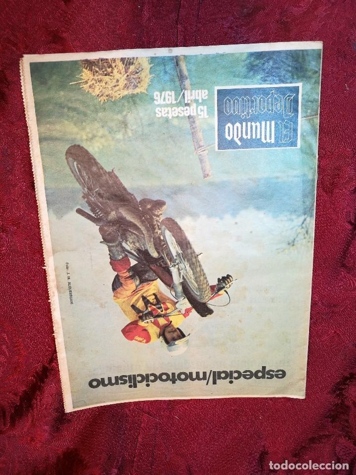 Coleccionismo deportivo: ESPECIAL MOTOCICLISMO 1976 EL MUNDO DEPORTIVO....MUCHA PUBLICIDAD--30 PAG--33 X 24 CM - Foto 2 - 123525411