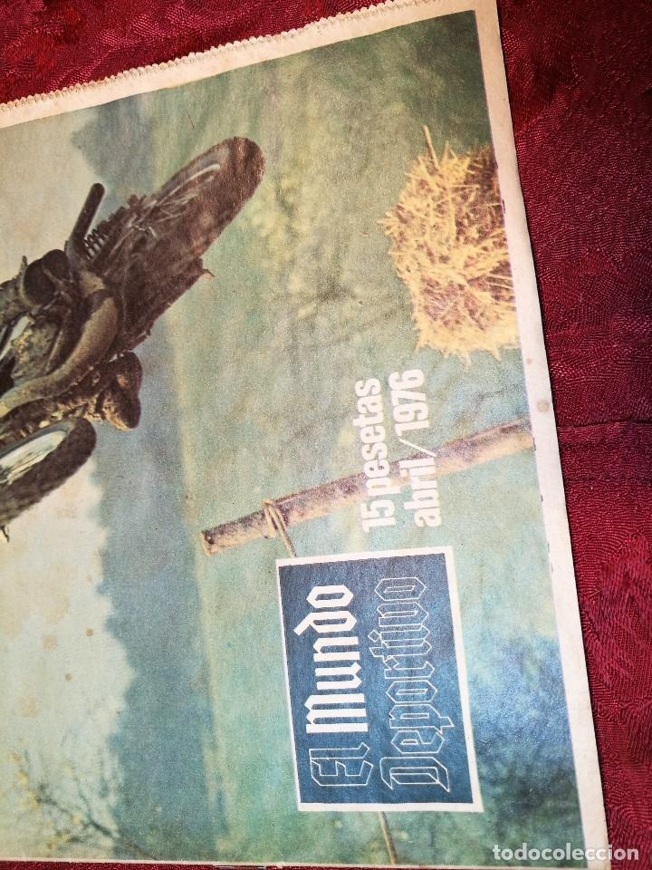 Coleccionismo deportivo: ESPECIAL MOTOCICLISMO 1976 EL MUNDO DEPORTIVO....MUCHA PUBLICIDAD--30 PAG--33 X 24 CM - Foto 3 - 123525411