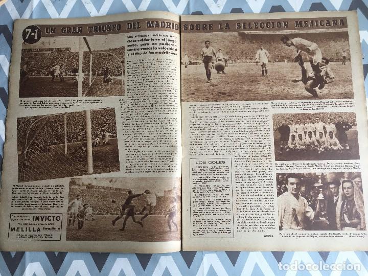 Coleccionismo deportivo: MARCA (29-11-49) REAL MADRID MEXICO FOTO PRIMER ATLETICO MADRID VIZCAYA ARENAS BODAS ORO BARCELONA - Foto 4 - 123531851