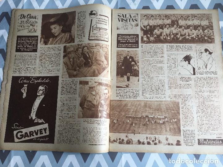 Coleccionismo deportivo: MARCA (29-11-49) REAL MADRID MEXICO FOTO PRIMER ATLETICO MADRID VIZCAYA ARENAS BODAS ORO BARCELONA - Foto 5 - 123531851