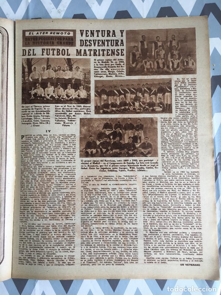 Coleccionismo deportivo: MARCA (29-11-49) REAL MADRID MEXICO FOTO PRIMER ATLETICO MADRID VIZCAYA ARENAS BODAS ORO BARCELONA - Foto 8 - 123531851