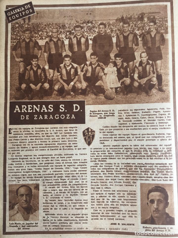 Coleccionismo deportivo: MARCA (29-11-49) REAL MADRID MEXICO FOTO PRIMER ATLETICO MADRID VIZCAYA ARENAS BODAS ORO BARCELONA - Foto 9 - 123531851