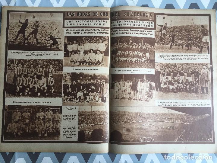 Coleccionismo deportivo: MARCA (29-11-49) REAL MADRID MEXICO FOTO PRIMER ATLETICO MADRID VIZCAYA ARENAS BODAS ORO BARCELONA - Foto 10 - 123531851