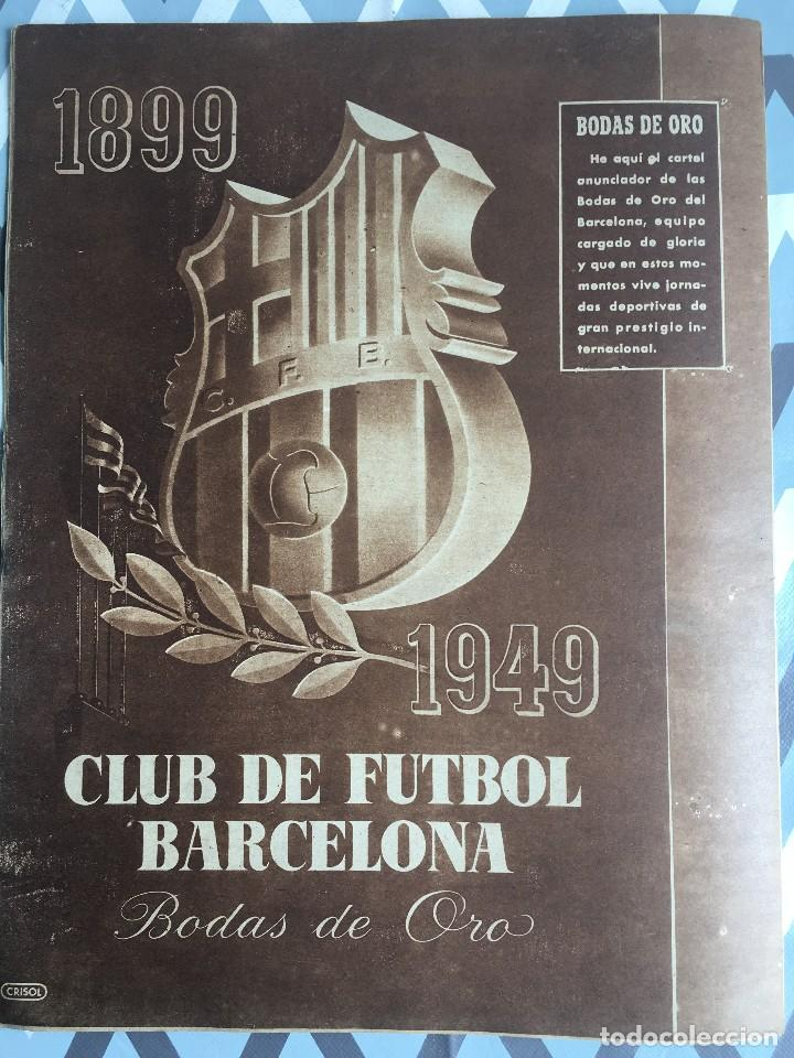 Coleccionismo deportivo: MARCA (29-11-49) REAL MADRID MEXICO FOTO PRIMER ATLETICO MADRID VIZCAYA ARENAS BODAS ORO BARCELONA - Foto 12 - 123531851
