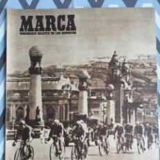 Coleccionismo deportivo: MARCA (12-8-47) GRAN PREMIO CICLISMO MARCA ATLETICO MADRID ASCENSION BUGABOO. Lote 123861271