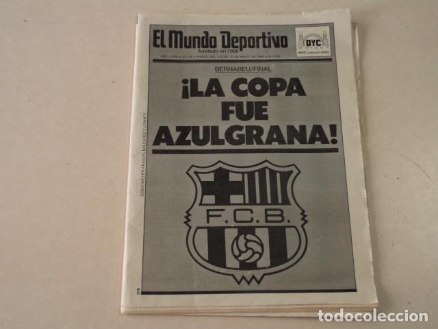 EL MUNDO DEPORTIVO Nº 20.378 - BARÇA CAMPEÓN DE COPA - 31 DE MARZO DE 1988 (Coleccionismo Deportivo - Revistas y Periódicos - Mundo Deportivo)