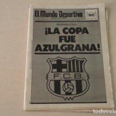 Coleccionismo deportivo: EL MUNDO DEPORTIVO Nº 20.378 - BARÇA CAMPEÓN DE COPA - 31 DE MARZO DE 1988. Lote 124025951