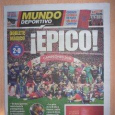Coleccionismo deportivo: PERIODICO MUNDO DEPORTIVO NUEVO BARCELONA CAMPEON COPA DEL REY TEMPORADA 2015 2016 15 16. Lote 124149115