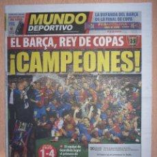 Coleccionismo deportivo: PERIODICO MUNDO DEPORTIVO NUEVO BARCELONA CAMPEON COPA DEL REY TEMPORADA 2008 2009 08 09. Lote 124149779