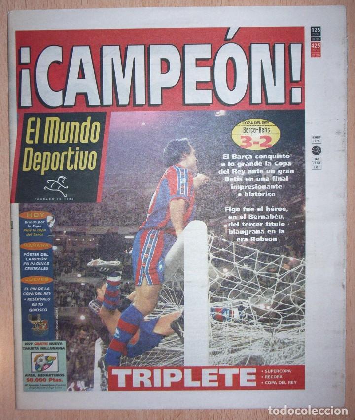 PERIODICO MUNDO DEPORTIVO NUEVO BARCELONA CAMPEON COPA DEL REY TEMPORADA 1996 1997 96 97 (Coleccionismo Deportivo - Revistas y Periódicos - Mundo Deportivo)