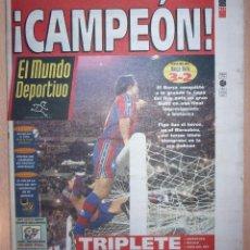 Coleccionismo deportivo: PERIODICO MUNDO DEPORTIVO NUEVO BARCELONA CAMPEON COPA DEL REY TEMPORADA 1996 1997 96 97. Lote 124151535