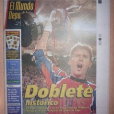 Coleccionismo deportivo: PERIODICO MUNDO DEPORTIVO NUEVO BARCELONA CAMPEON COPA DEL REY TEMPORADA 1997 1998 97 98. Lote 124151787