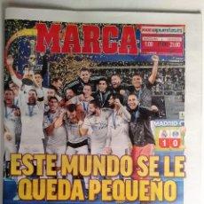 Coleccionismo deportivo: MARCA REAL MADRID GANA SU SEXTO MUNDIALITO DE CLUES. Lote 124380063