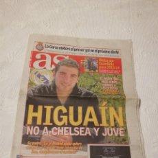 Coleccionismo deportivo: DIARIO AS Nº 14882 - 2 DE ENERO DE 2012 · EN PORTADA: GONZALO HIGUAÍN - 32 PÁGINAS. Lote 124451699