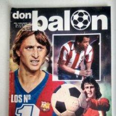 Coleccionismo deportivo: DON BALÓN. LOS NÚMEROS UNO (NOVIEMBRE 1977). Lote 124482775
