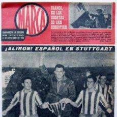 Coleccionismo deportivo: PERIÓDICO MARCA. 11 DE SEPTIEMBRE DE 1962. ATLETICO DE MADRID CAMPEÓN RECOPA. STUTTGART.. Lote 124628043