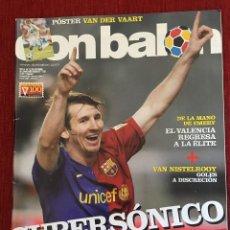 Coleccionismo deportivo: RP REVISTA DON BALON Nº 1721 OCTUBRE 2008 MESSI POSTER VAN DER VAART NISTELROOY ATLETICO MADRID. Lote 124717555