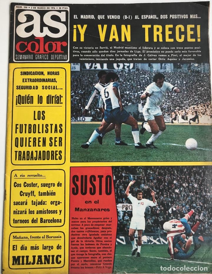 Revista As Color N° 250 (02-03-1976) - Póster Club Fútbol Calvo Sotelo  (1975 - 76) - Villar 761ce1af7aa2