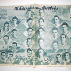 Coleccionismo deportivo: REVISTA AS Nº 186 DEL 13 ENERO 1936 - EN PORTADA PLANTILLA ESPAÑA Y AUSTRIA 5 - 24 PÁG. - FOTOS . Lote 125120839