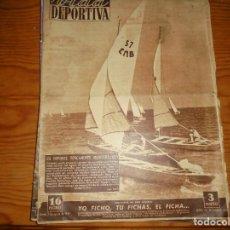 Coleccionismo deportivo: VIDA DEPORTIVA Nº 204. AGOSTO 1949. LA VELA , UN DEPORTE TIPICAMENTE MEDITERRANEO. Lote 125148059