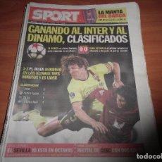 Coleccionismo deportivo: DIARIO SPORT Nº 10.820, 5-11-2009. RUBIN KAZAN 0 - BARÇA 0 (LIGA DE CAMPEONES). Lote 125200975
