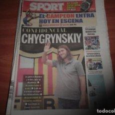 Coleccionismo deportivo: DIARIO SPORT Nº 10.754, 31-8-2009. FICHAJE DE CHYGRYNSKIY. Lote 125201071