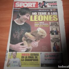 Coleccionismo deportivo: DIARIO SPORT Nº 10.643, 12-5-2009. PREVIO FINAL COPA DEL REY. Lote 125201435