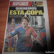 Coleccionismo deportivo: DIARIO SPORT Nº 10.644, 13-5-2009. PREVIO FINAL DE LA COPA DEL REY. Lote 125201475