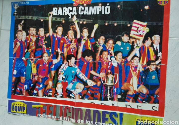 PÓSTER BARÇA CAMPIÓ COPA DEL REY 1997 SPORT (Coleccionismo Deportivo - Revistas y Periódicos - Sport)