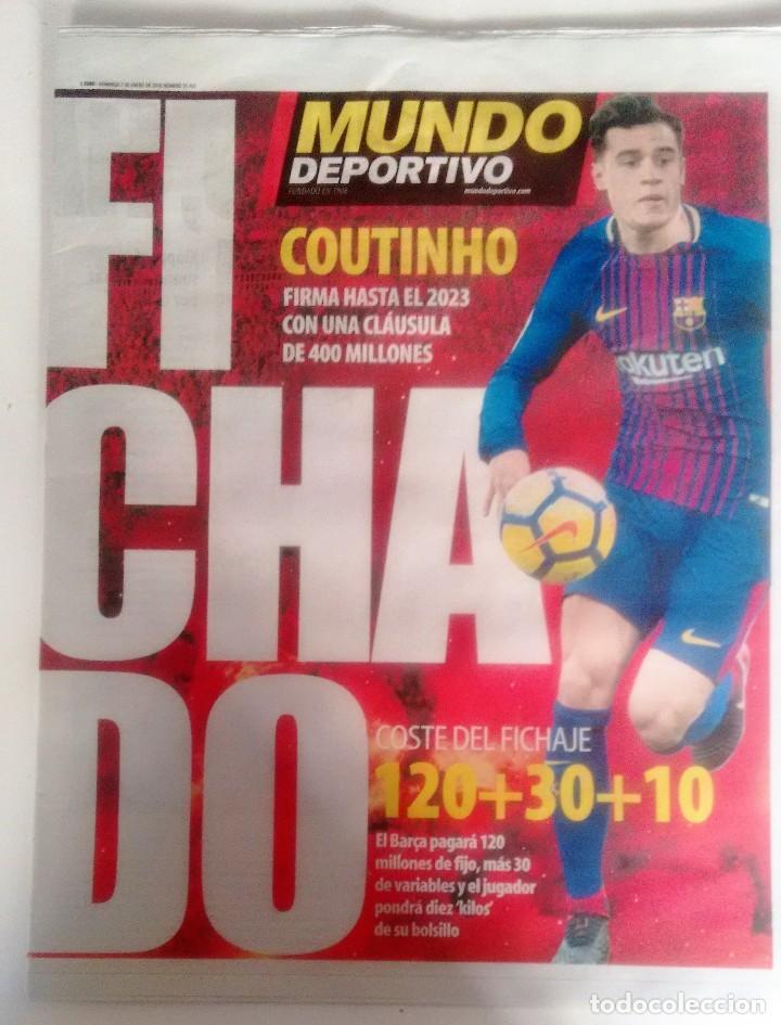 MUNDO DEPORTIVO FICHAJE DE COUTINHIO (Coleccionismo Deportivo - Revistas y Periódicos - Mundo Deportivo)