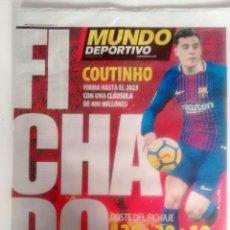 Coleccionismo deportivo: MUNDO DEPORTIVO FICHAJE DE COUTINHIO. Lote 125371003