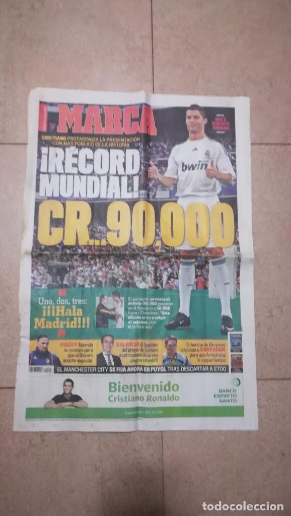 DIARIO MARCA 7 DE JULIO DE 2009 - PRESENTACION DE CRISTIANO RONALDO · 55 PÁGINAS (Coleccionismo Deportivo - Revistas y Periódicos - Marca)