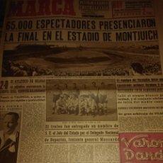 Coleccionismo deportivo: MARCA DIARIO GRAFICO DE LOS DEPORTES AÑO III 27 JUNIO DEL 1944 FINAL EN EL ESTADIO DE MONTJUICH . Lote 125893915
